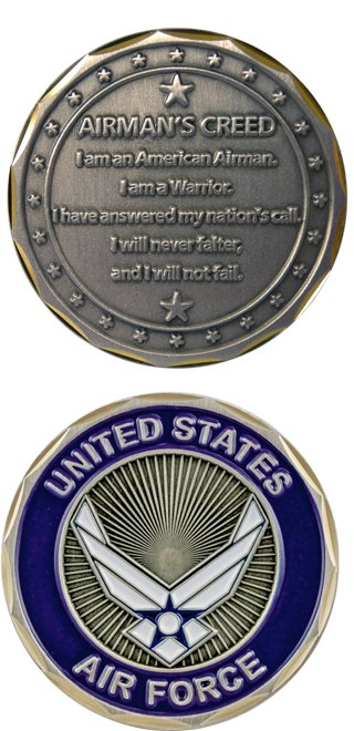 Air force airmans creed challenge coin altavistaventures Choice Image